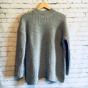 Oversized mock neck
